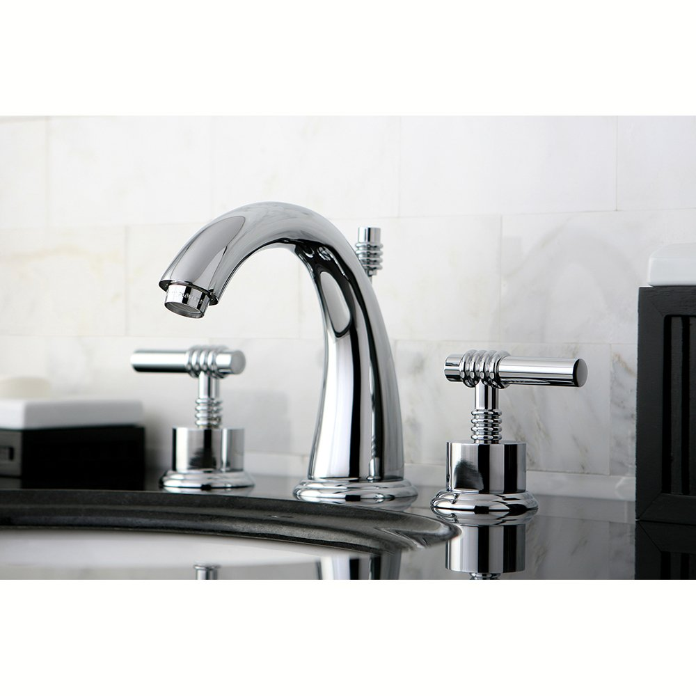 Kingston Brass KS2964ML Milano Widespread Lavatory Faucet with Metal ...