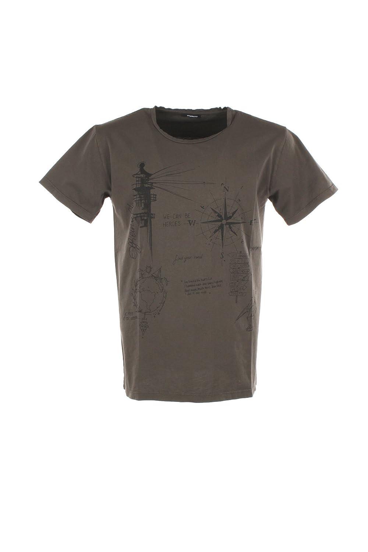 OFFICINA 36 T-Shirt Uomo 2XL Marrone Mh270 Primavera Estate 2018
