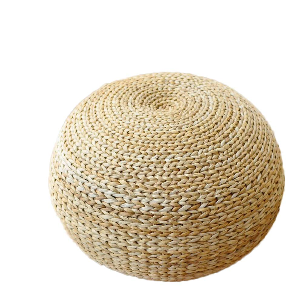 A+4030cm Pouffe Chair Round Rattan Stool Straw Rattan Bench Stool Woven Stool Bench for shoes,C+40  30cm