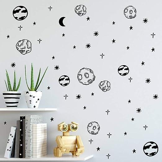 Planeta tatuajes de pared Sistema solar Astronomía Espacio ...