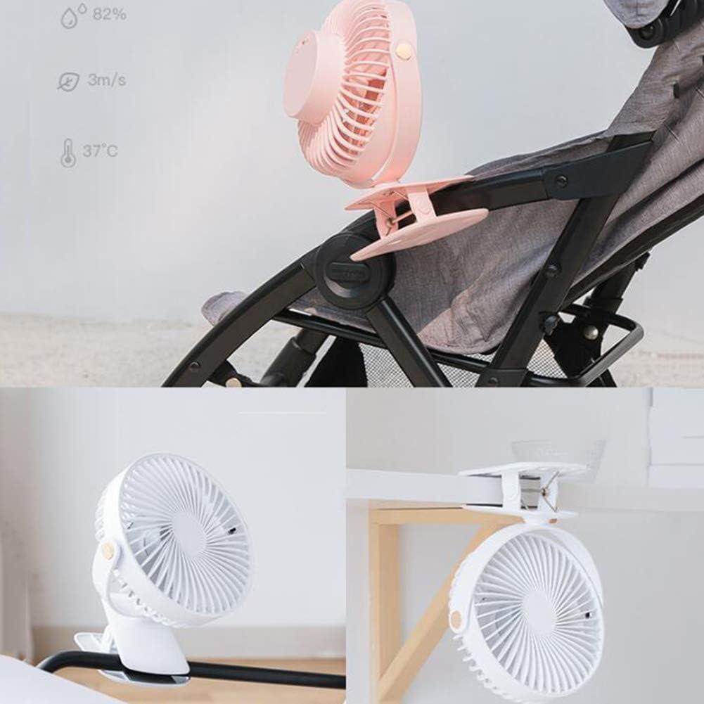 Clip-on Desktop Fan Mini USB Personal Cooling Fan 3-Speed Setting 720/° Rotation Portable Desktop Fan
