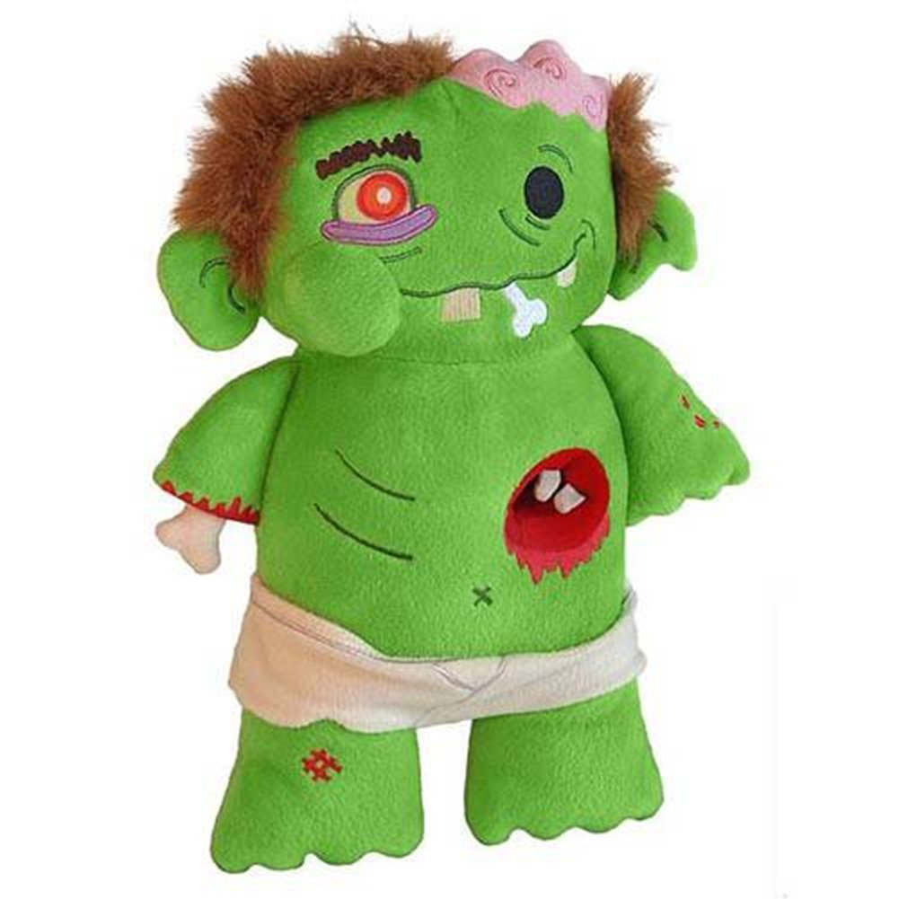 My First Zombie Plush by Toy Vault My First Zombie is just as soft and squishy as a real shambling corpse, but without the stinky mess and bestial desire to devour your entire family! For children kids over 3 years