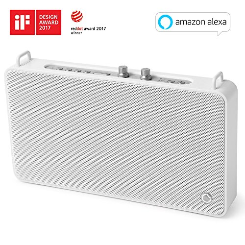 GGMM E5 Wireless Smart Speaker with Amazon Alexa, WiFi+Bluetooth, Multi Room Audio Speaker for Music Streaming, Powerful Sound with Enhanced Bass, 15 Hours Battery Life, Airplay Spotify iHeart Radio