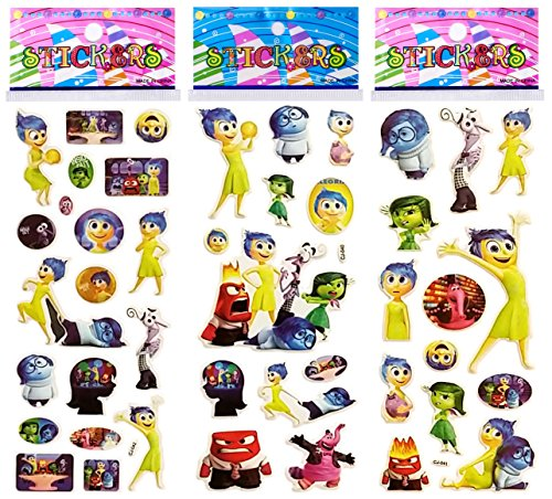 3 Sheets Puffy Dimensional Scrapbooking Party Stickers-FREE USA SHIPPING -