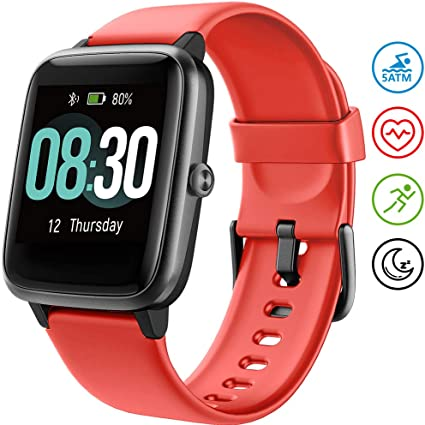UMIDIGI Smartwatch Orologio Uwatch3 Fitness Tracker Uomo Donna Impermeabile 5ATM Smart Watch Cardiofrequenzimetro da Polso Contapassi Smartband