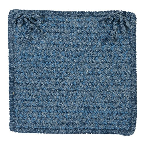 Simple Chenille M501 Chair Pad, 15 by 15-Inch, Petal Blue, - Colonial Mills Petal
