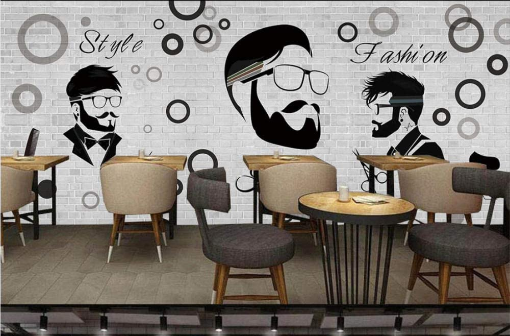 Yirenfeng Barber Shop Decoration Wallpaper Beauty Salon Men S Club Barber Shop Background Wall Decoration Painting Mural Amazon Co Uk Diy Tools