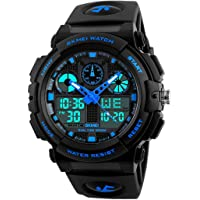 RUSTET Analogue-Digital Multi-Function Chronograph Sports Watch for Men and Boys(1270) (Blue)