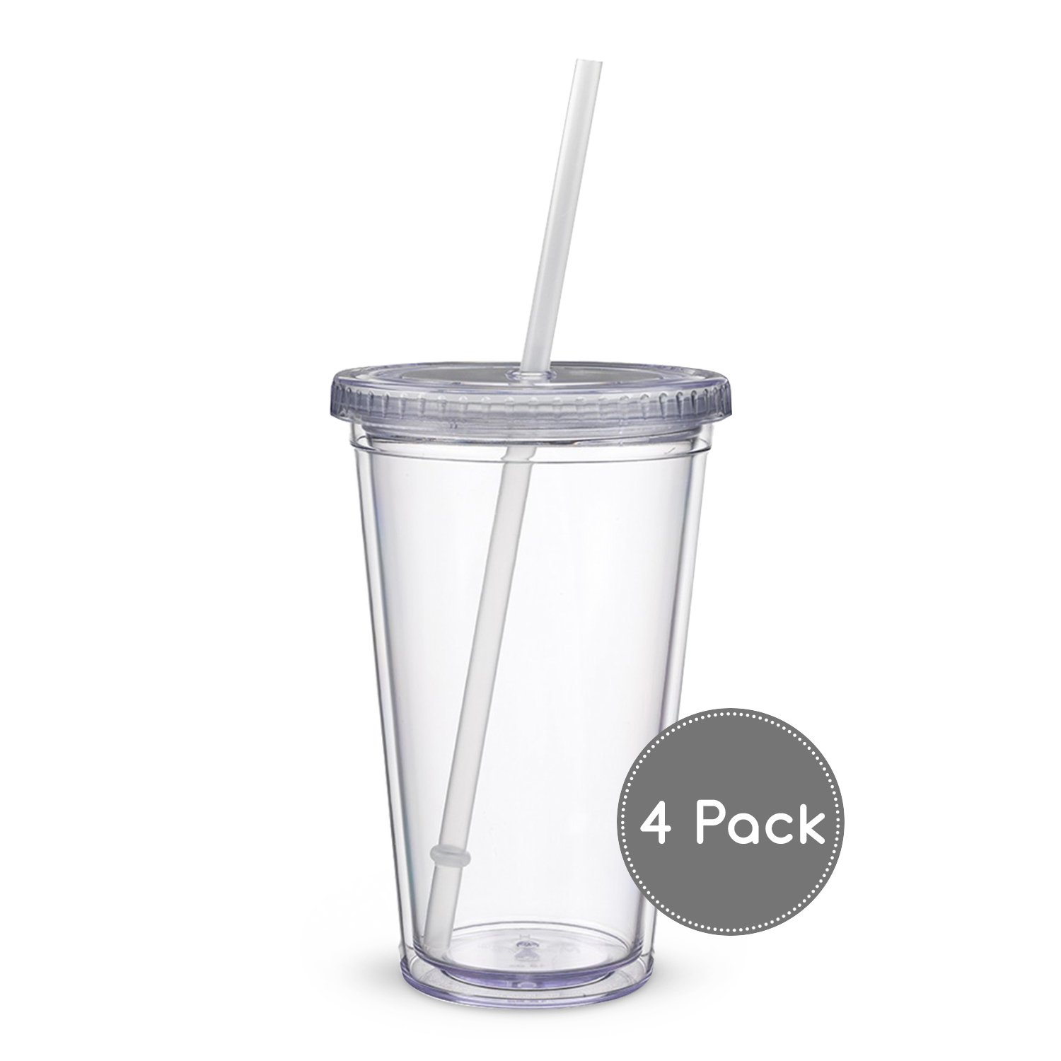 Maars Classic Insulated Tumblers 16 oz. | Double Wall Acrylic | 4 pack by Maars® Drinkware (Image #3)