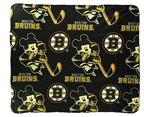 Bruins Boston Blanket (The Northwest Company NHL Boston Bruins Mickey Mouse Character Fleece Throw, 50 x 60-inches)