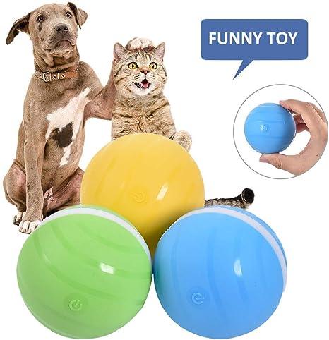 Lievevt Bolas de luz LED para Mascotas Bola Magica |Carga USB Bola ...