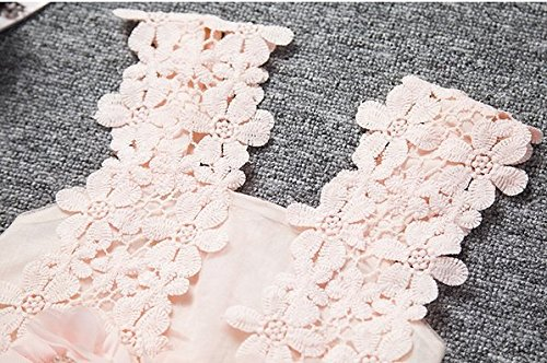 Baby Girls Sleeveless Lace Wedding Vintage Birthday Party Princess Flower Dress 3T(Tag 120) Pink by EGELEXY (Image #3)