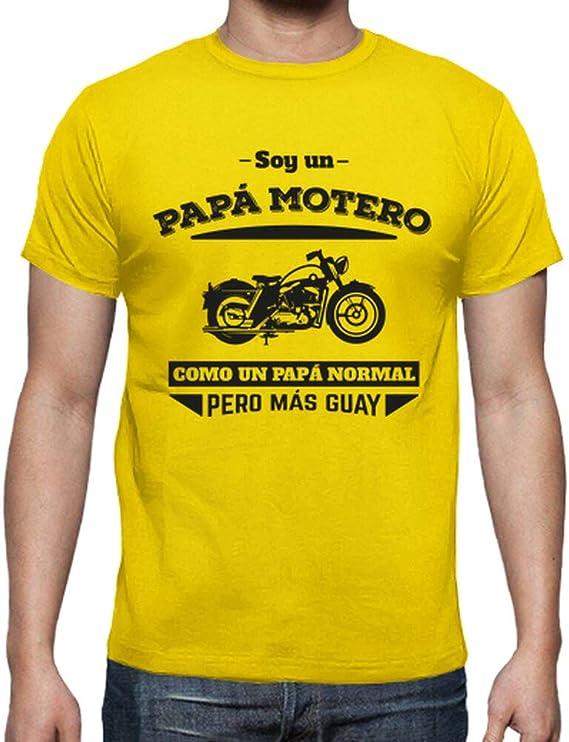 latostadora - Camiseta Papa Motero, para Hombre: MundoAtleti: Amazon.es: Ropa y accesorios