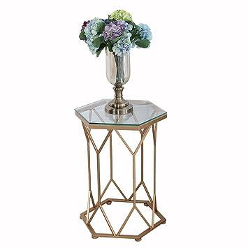 Genial Cb AODISHA Beistelltische Eisen Couchtisch, Glas Marmor Kleine Geometrische  Tabelle Kreative Möbel