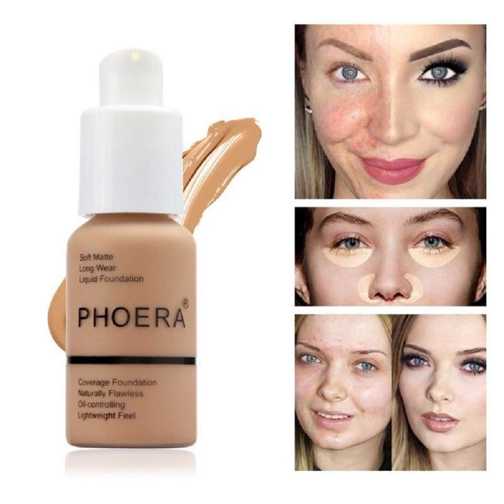 Ilove Diy Phoera Soft Matte Full Coverage Liquid Foundation Porcelin Concealer Cream Powder Foundation 103