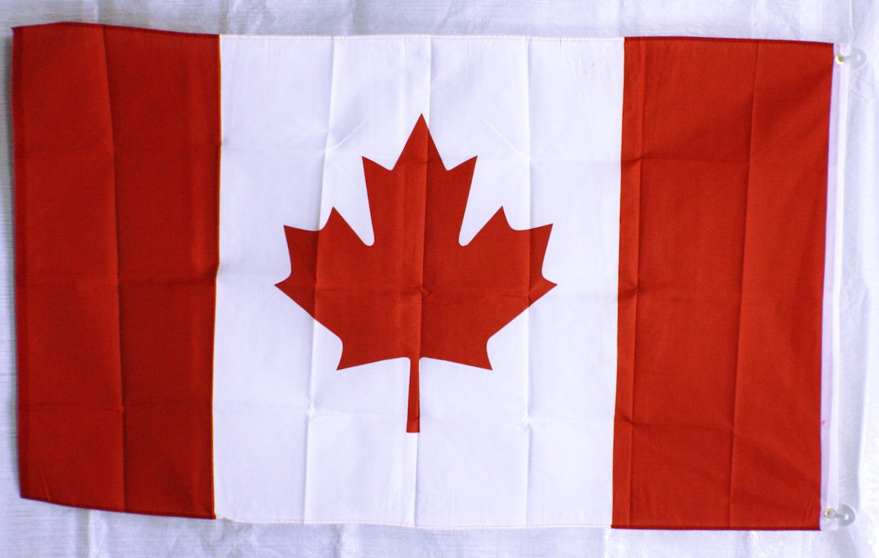 Canadian Country flag Banner Sign 3/' x 5 Foot  Polyester With grommets Canada