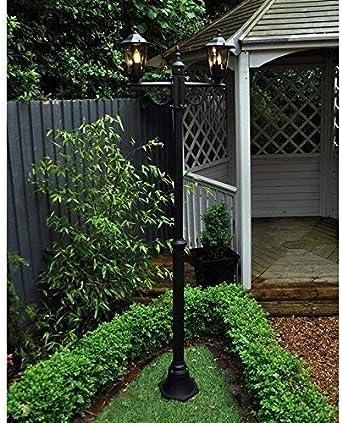 Homezone Garden Mile Grande 2m Doble Victoriana Poste de Luz Farol Luces Bajo Voltaje Eléctrico Luces LED Jardín Al Aire Libre Luces farolas Tradicional Jardín Al Aire Libre Iluminación: Amazon.es: Iluminación