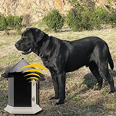 CY Ultrasonic Outdoor Bark Controller Dog Barking Off Limiter Anti-Bark Training Birdhouse Silence Control for Pets by CY Pet