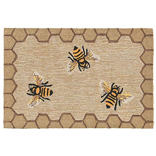 Liora Manne FTP23243212 2432/12 Honeycomb BEE Natural Rugs 24