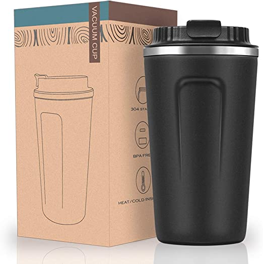 Stainless Steel Travel Mug*Leak Proof,No Spill Flask*Best Tea Coffee Cup*Colours