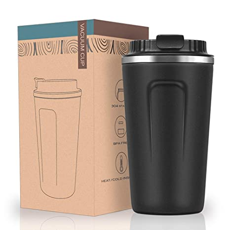 Amazon.com: Taza de café de acero inoxidable mate con ...