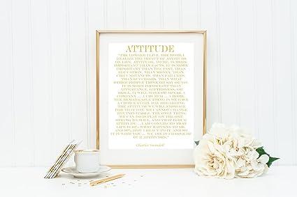 Amazon com: Real Gold Foil Charles Swindoll Print on White