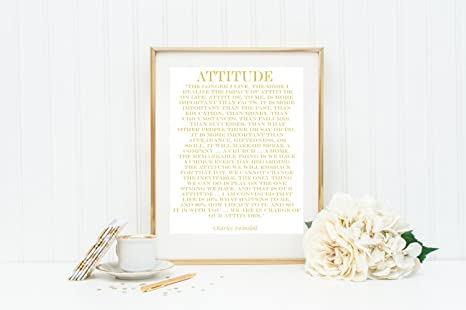 Real Gold Foil Charles Swindoll Print on White Matte Paper