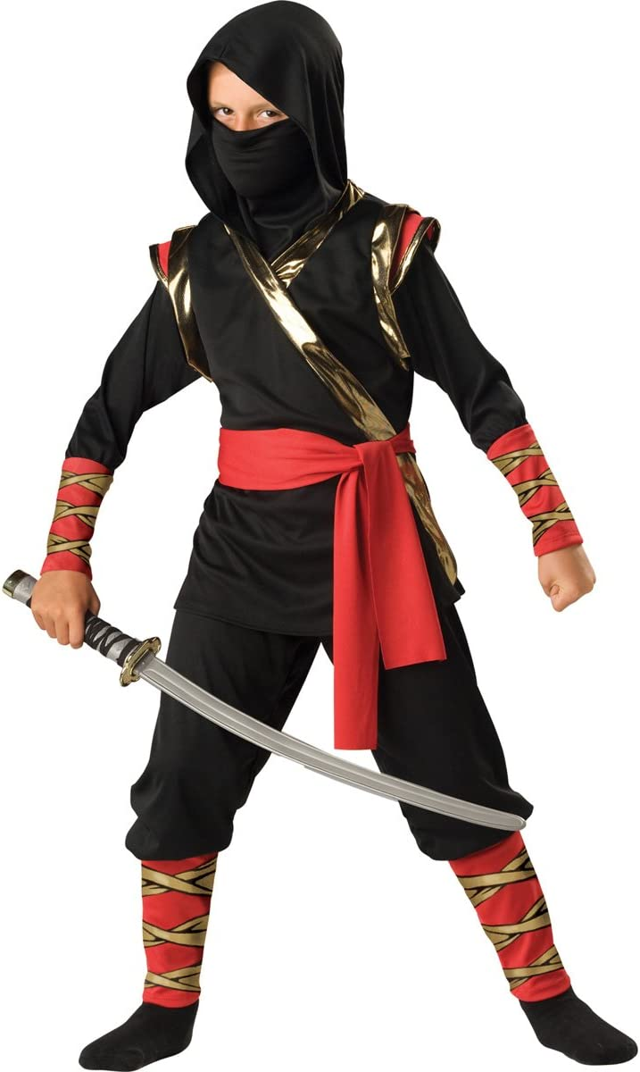 InCharacter Costumes Boys 2-7 Ninja Hoody Costume, Black, 6