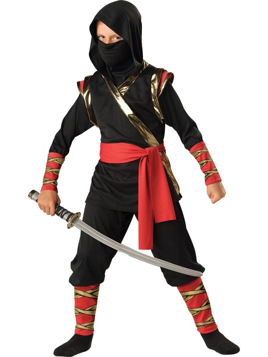 InCharacter Costumes, LLC Boys 8-20 Ninja Hoody Set, Black, Large