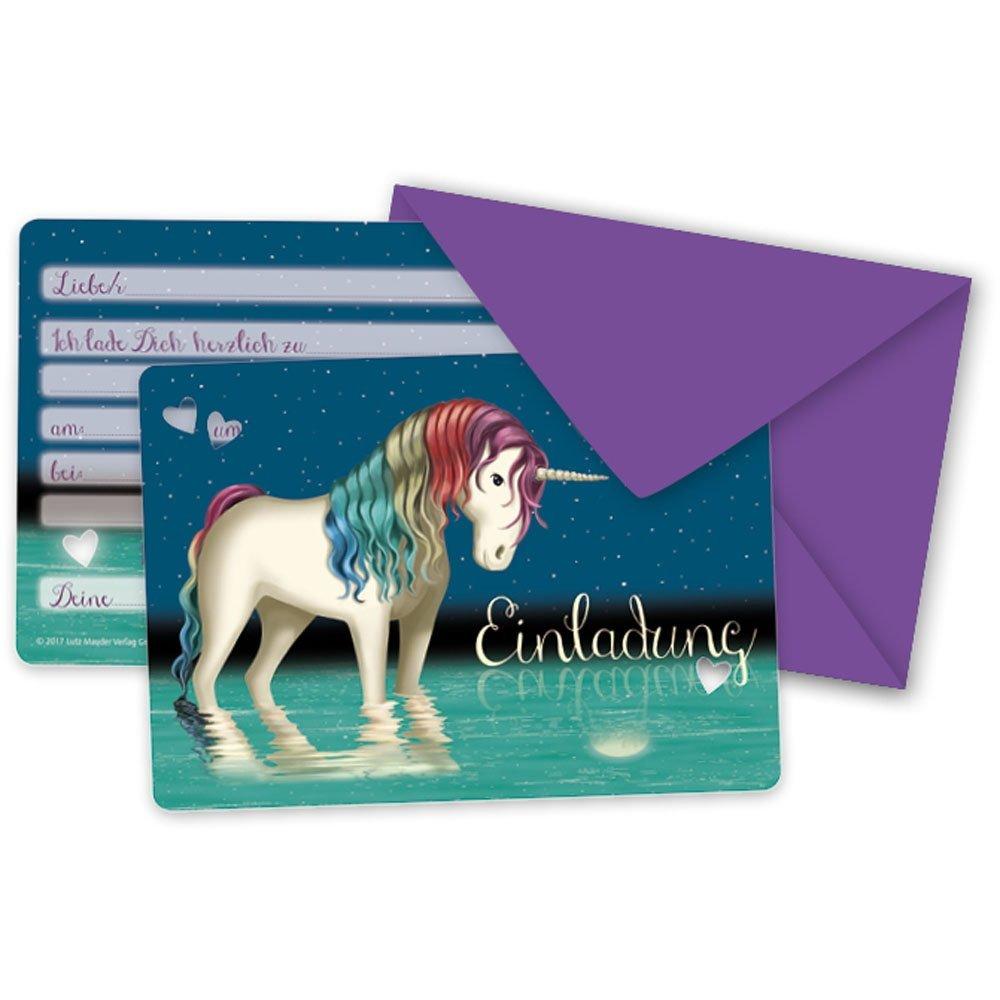 Party Einladungskarten Einhorn Tapir Ella Lutz Mauder Kindergeburtstag Mädchen