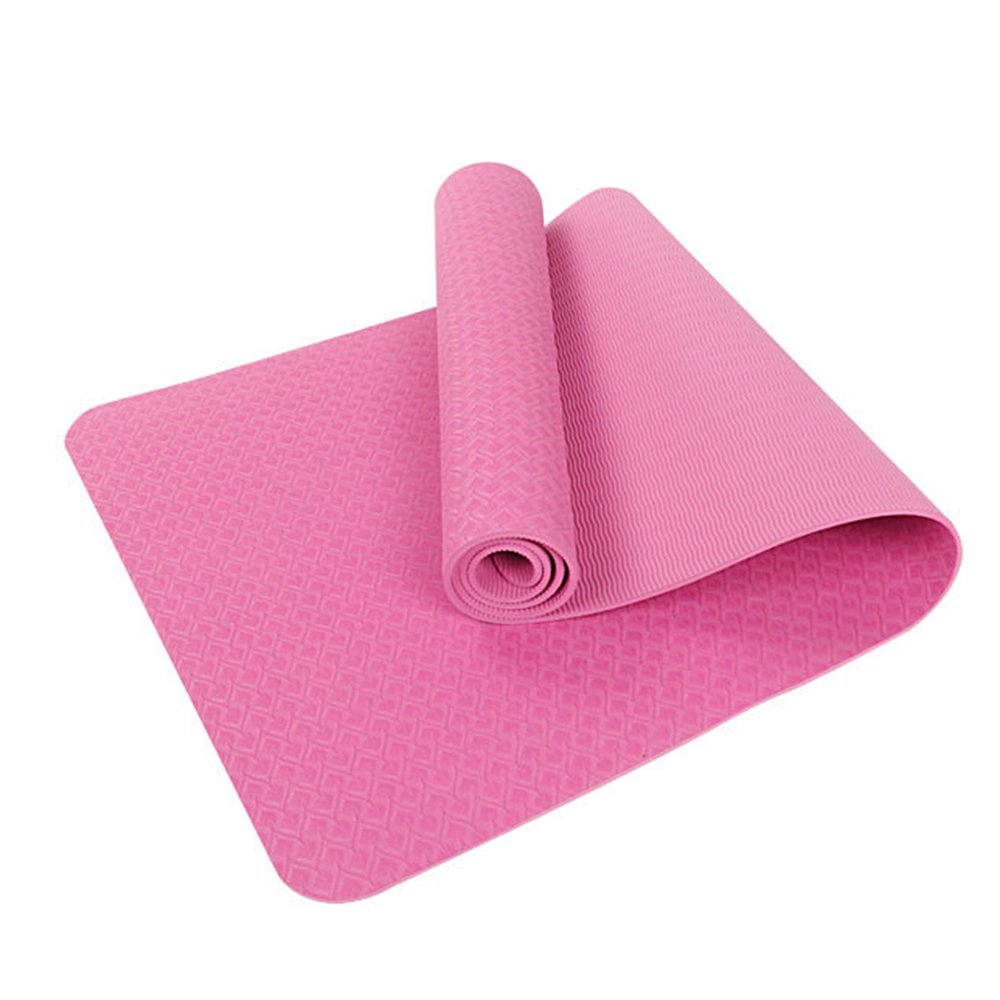 Sijueam Eco Friendly Extra Thick Yoga Mat; Exercise Mat ,Thick Pilates Mat , Exercise Mat Non Slip Material, 6mmx183x61cm, Perfect for Yoga, Pilates, Fitness, Exercise and Meditation