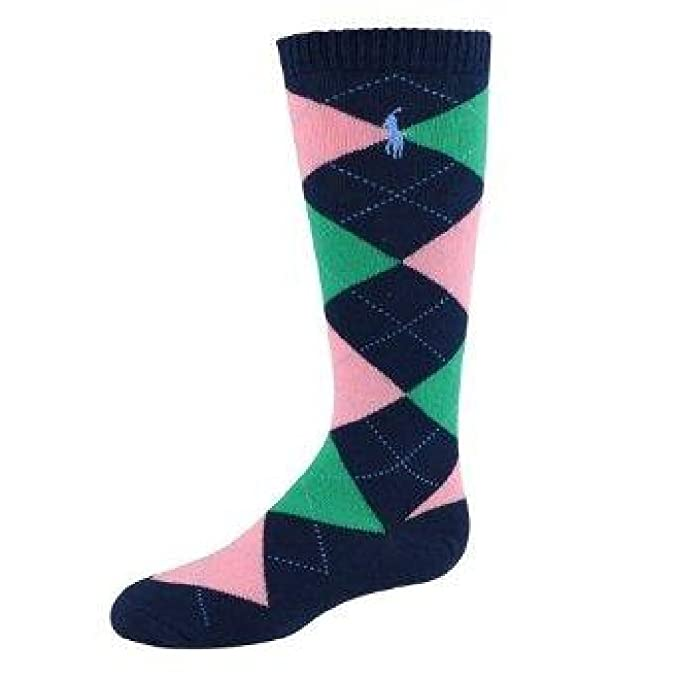 9961a619e33 Image Unavailable. Image not available for. Color  Ralph Lauren Girls  Argyle Knee-High Socks ...