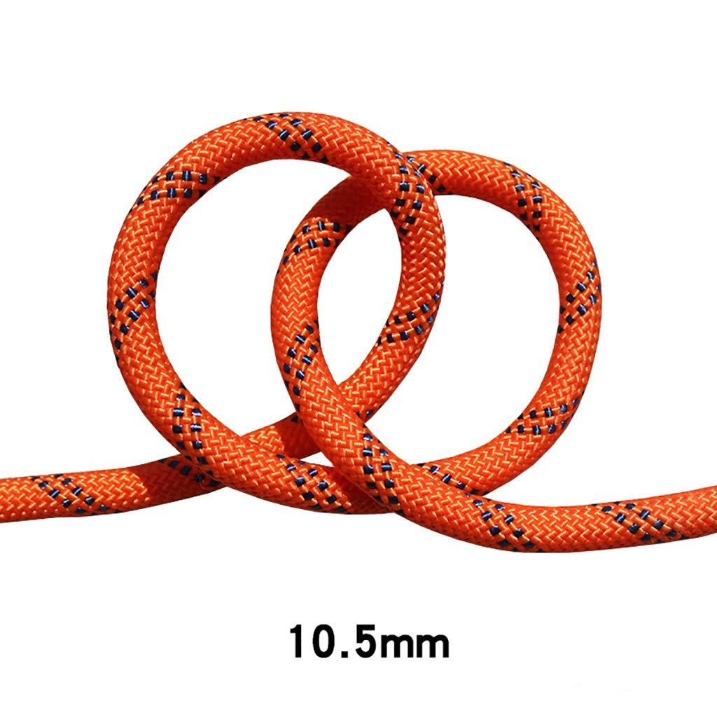YYHSND Diamètre de Corde 10.5mm Orange Noir Corde d'alpinisme (Taille   25m) 70m