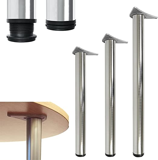 Patas ajustables de apoyo para mesas, barras, encimeras, satinado ...