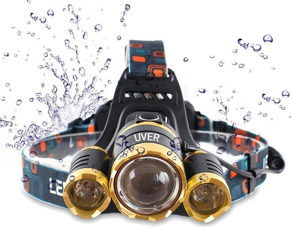 Brightest and Best LED Headlamp American Design 6000 Lumen flashlight-IMPROVED