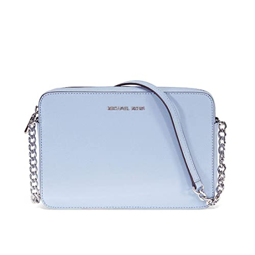 58a31566b7fd16 Michael Kors East West Large Pale Blue Saffiano Leather Cross-Body Bag Blue  Leather: Amazon.co.uk: Shoes & Bags