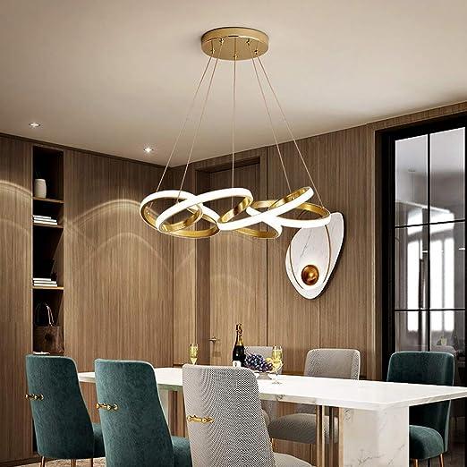 HYLH Lámpara Colgante Colores Dorados Lámpara LED Moderna diseño ...