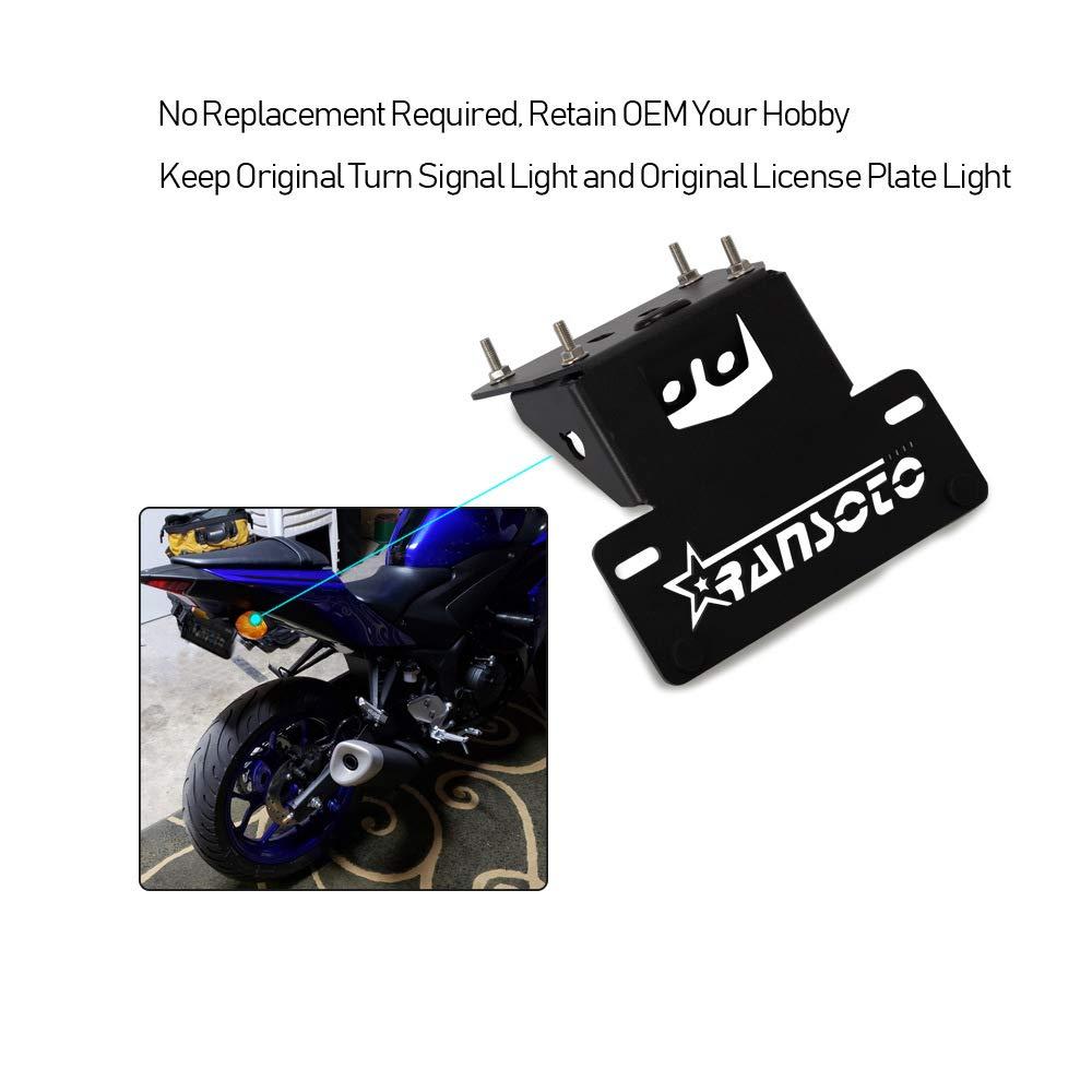Portatarga in Alluminio per Moto Yamaha YZF-R3 2015-2019 FidgetFidget CNC