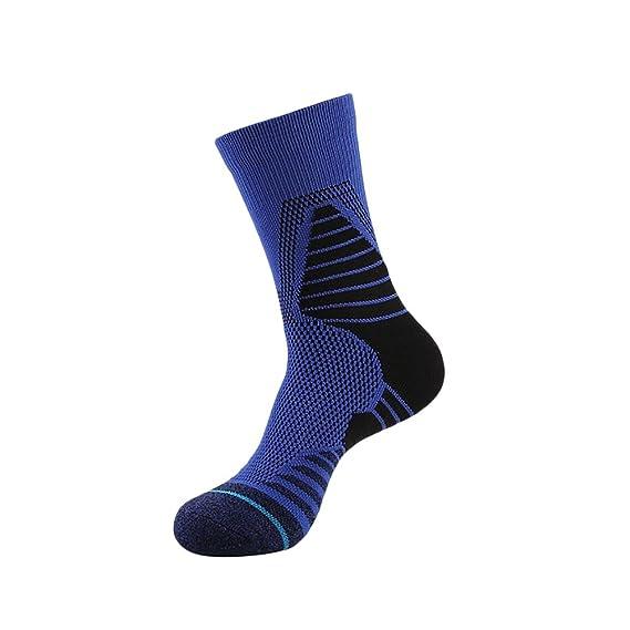 Waroomss Calcetines deportivos antideslizantes, Senderismo profesional de atletismo Calcetines deportivos de baloncesto para deportes al aire libre ...