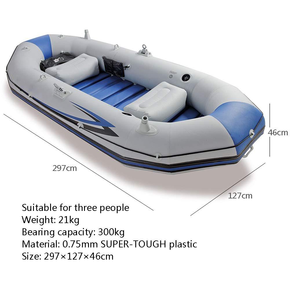 DMBHW Barco de Asalto 3 Personas Bote Salvavidas Barca Hinchable ...