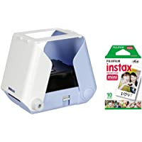 Kiipix Photo Ink Sky Blue Mobile Compatible Instant Photo Printer with Fujifilm Instax Mini Starter Pack for Polaroid Pictures