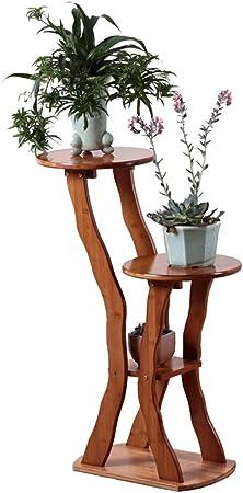 Flower Stand Soporte de Flores de Madera Veranda Bonsai Pergola Forma de árbol Chino, A: Amazon.es: Hogar