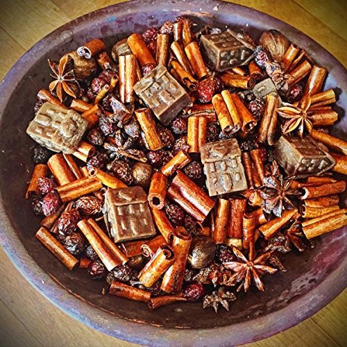 Bowl filler, scented pot pourri, prim fixins, home scents, 6 oz. bag, log cabin scent (Primitive Cabin Log)