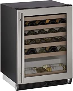 "product image for U-Line U1024WCS00B 24"" Built-in Wine Storage, Stainless Steel"