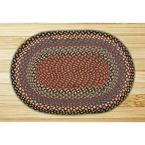 Amazon Com Earth Rugs Blue Burgundy Gray Round 7 Ft 9 In Braided