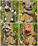 garden mile Novelty Koala Bear Garden Animal Tree Peeker Novelty Garden Ornaments Garden Tree Decoration Garden Sculpture Statues Home Decor. (Koala)
