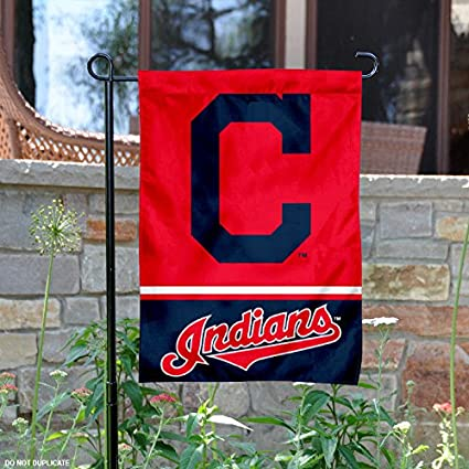 Image Unavailable. Image not available for. Color  WinCraft Cleveland  Indians Double Sided Garden Flag bdd57f4d097c