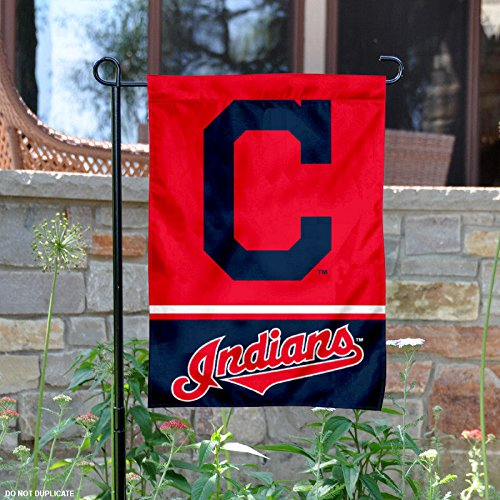 Price comparison product image Cleveland Indians Double Sided Garden Flag