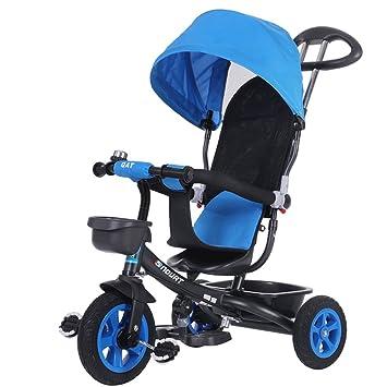 ZXUE Triciclo para Niños Bicicleta 1-5 Años Carritos para Bebés Bicicleta para Niños Carrier para Bebés Carrito para Bebés (Color : Azul): Amazon.es: Hogar
