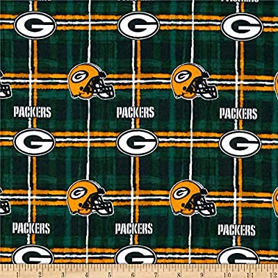 "GREEN BAY PACKERS NFL 60/"" WIDE COTTON FABRIC BY THE YARD Fabric Traditions g"